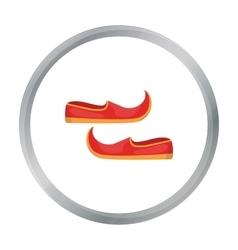 Arabian khussa icon in cartoon style isolated on vector