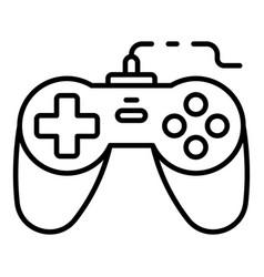 Arcade joystick icon outline style vector