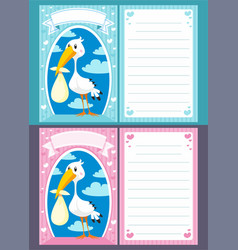 Bashower greeting invitation cards vector