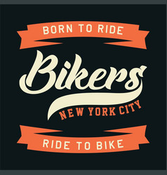 Bikers new york city vector