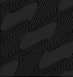 Black 3d diagonal waves vector image