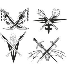 Blades crossed vector