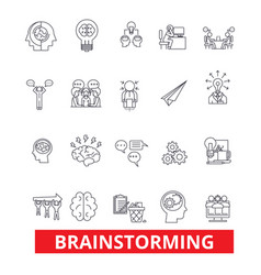 Brainstorm create idea thinking creation vector