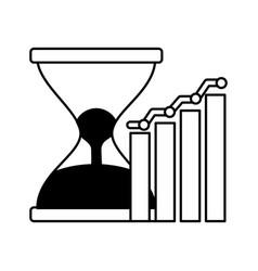 Business hourglass chart report vector