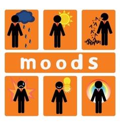 Business moods vector