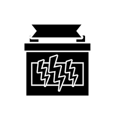 Car battery isolated vector image