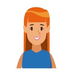 cartoon beauty girl smiling portrait female vector image