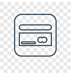 Cit card concept linear icon isolated on vector