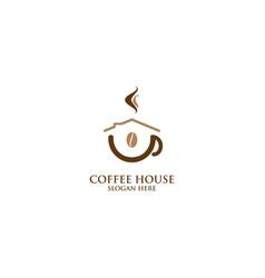 Coffee house logo design vector