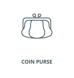 coin purse line icon coin purse outline vector image
