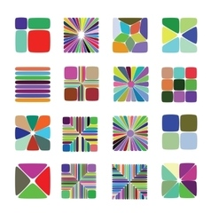 Colour Elements for Pattern Construction vector