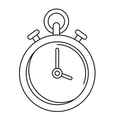 Contraceptive stopwatch icon outline style vector