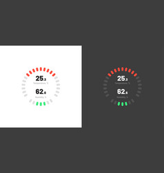 Control knob used for regulating dashboard ui vector