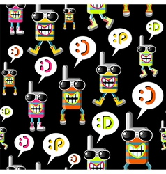 Cool MOBILE PHONE pattern vector