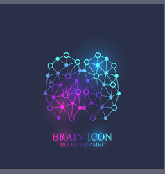 creative brain logotype concept design abstract vector image