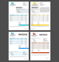 Creative of invoice form vector