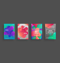 dynamic form posters colored geometric forms and vector image