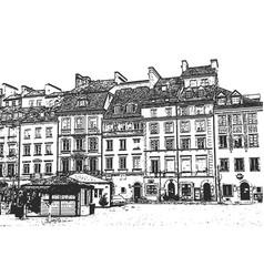European old town vintage hand drawn sketch vector
