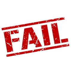 Fail stamp vector