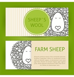 Farm Sheep Fool Concept Hand Drawn Style Template vector