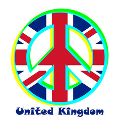 Flag the united kingdom as a sign of pacifism vector