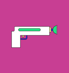 Flat icon design collection kids gun vector