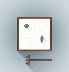 flat table zen garden icon vector image