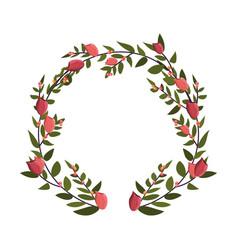 Flower round arrangement vector