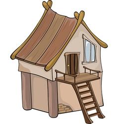 Funny Little House cartoon vector