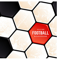 grunge soccer ball surface background vector image
