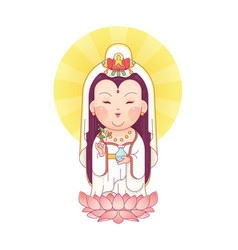 guanyin goddess of mercy vector image