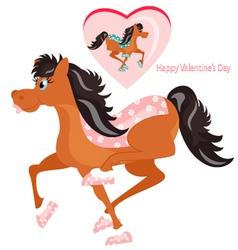Happy horses vector image