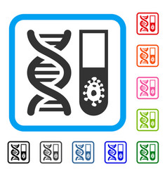 hitech microbiology framed icon vector image