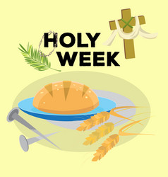 holy week last supper of jesus christ thursday vector image
