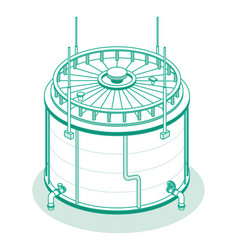 isometric big industrial oil tank isolated vector image