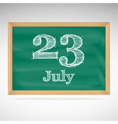 July 23 day calendar school board date vector