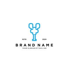 Letter y cross plus hospital medical logo design vector