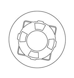 lifebuoy icon design vector image
