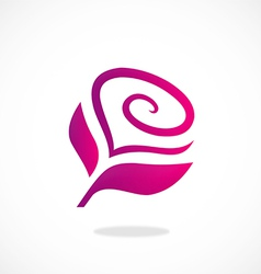 Love flower abstract logo vector