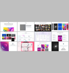 Minimal presentations portfolio templates with vector