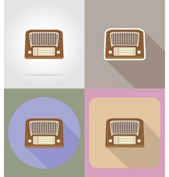 multimedia flat icons 05 vector image