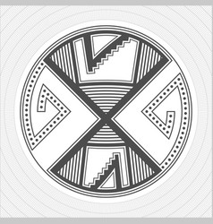 North america pueblo indians graphic art tattoo vector