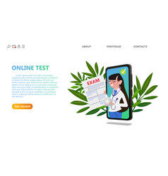 online medical exam test healthcare technology vector image