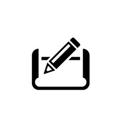 pencil and paper flat icon vector image