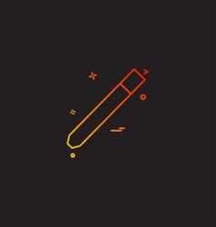 pencil pen school study icon vector image