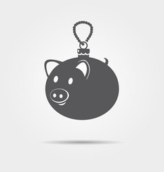 pig christmas tree ball icon vector image