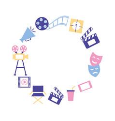 production movie film cinema frame vector image