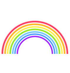 Rainbow arc shape half circle bright spectrum vector