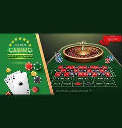 realistic casino roulette template vector image