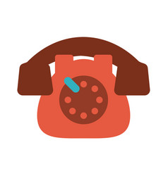 Rotary phone vintage icon image vector